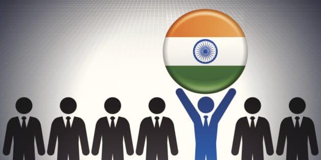 Stick Figure Holding India