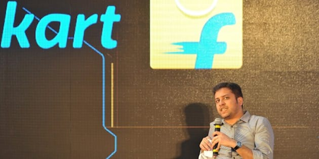 Chief Operating Officer and Co-Founder of Flipkart, Binny Bansal speaks during the launch of Flipkart's Largest Fulfillment Centre on the outskirts of Hyderabad on October 30, 2015.  Flipkart is India's leading e-commerce marketplace offering over 30 million products across 70 plus categories including Books, Media, consumer Electronics and Lifestyle.   AFP PHOTO / NOAH SEELAM        (Photo credit should read NOAH SEELAM/AFP/Getty Images)