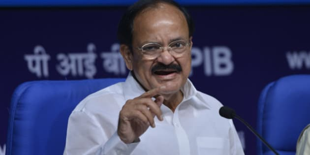 NEW DELHI, INDIA OCTOBER 02: Union Minister of Urban Development,  M .Venkaiah Naidu during a Press Conference in New Delhi.(Photo by Ramesh Sharma/India Today Group/Getty Images)
