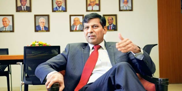 MUMBAI, INDIA - JUNE 3: Raghuram Rajan, Governor of Reserve Bank of India, during an interview with Mint, at RBI headquarters on June 3, 2015 in Mumbai, India. (Photo by Abhijit Bhatlekar/Mint via Getty Images)