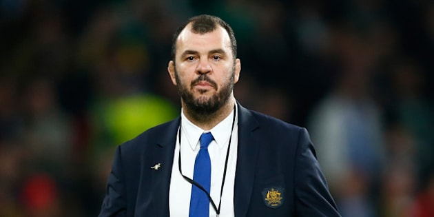 LONDON, ENGLAND - OCTOBER 31:  Michael Cheika the head coach of Australia following his team's defeat in the 2015 Rugby World Cup Final match between New Zealand and Australia at Twickenham Stadium on October 31, 2015 in London, United Kingdom.  (Photo by Shaun Botterill/Getty Images)