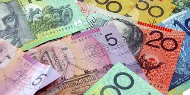 Australian notes scattered on a table. Click to see more...
