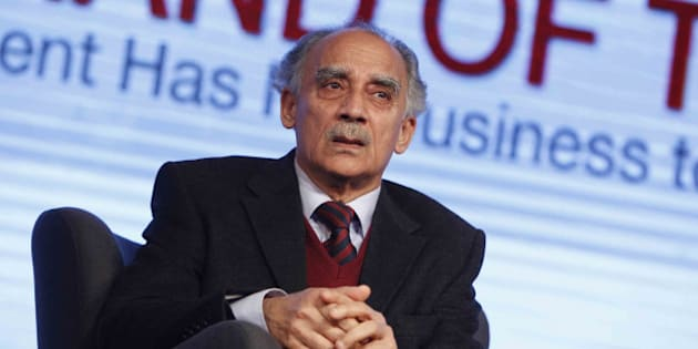 NEW DELHI, INDIA  MARCH 07: Arun Shourie during the India Today Conclave 2014 in New Delhi.(Photo by Pankaj Nangia/India Today Group/Getty Images)