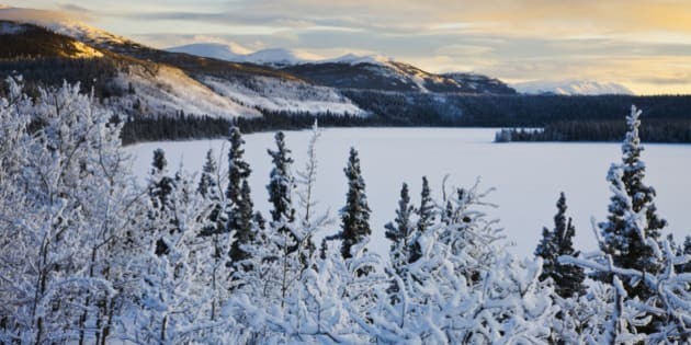 Winter landscape in northern Canada.