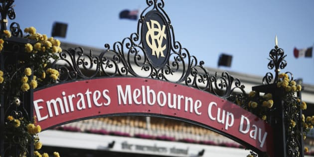 MELBOURNE, AUSTRALIA - NOVEMBER 03: A general view on Melbourne Cup Day at Flemington Racecourse on November 3, 2015 in Melbourne, Australia.  (Photo by Ryan Pierse/Getty Images for the VRC)