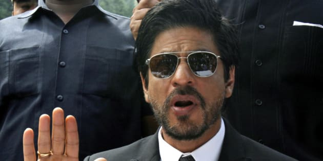 Bollywood star Shah Rukh Khan speaks during a press conference in Srinagar, India, Thursday, Sept. 6, 2012. Khan is in the Indian part of Kashmir, where his mother was from, to shoot his latest film. (AP Photo/Mukhtar Khan)