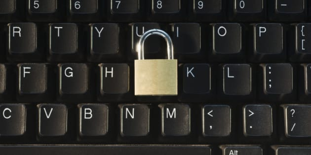 Lock on computer keyboard