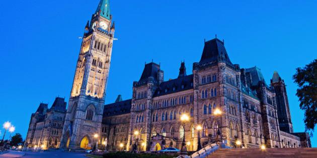 Canada Parliament Building in Ottawa, Ontario, Canada