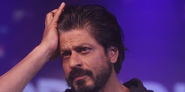 Bollywood superstar Shah Rukh Khan gestures during a press conference on his birthday in Mumbai, India, Monday, Nov. 2,2015. (AP Photo/Rafiq Maqbool)