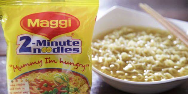 A packet and a cooked bowl of Maggi 2-Minute Noodles, manufactured by Nestle India Ltd., are arranged for a photograph in New Delhi, India, on Monday, June 15, 2015. Nestle SA said the U.S. Food and Drug Administration is testing samples of imported Maggi noodles after the worlds largest food company halted sales in India when regulators said they contained unhealthy levels of lead. Photographer: Kuni Takahashi/Bloomberg via Getty Images