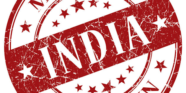 Made In India red stamp