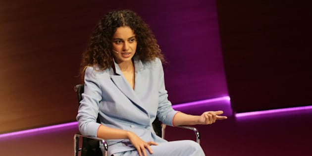 Bollywood actress Kangana Ranaut speaks during the Women in the World Summit at Cadogan Hall in London, Friday Oct. 9, 2015. (AP Photo/Tim Ireland)