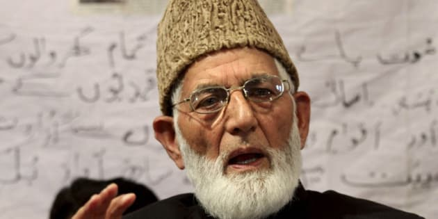 Pro-Pakistan separatist leader Syed Ali Shah Geelani addresses a press conference in Srinagar, India, Wednesday, April 28, 2010. Steps towards unity between the two groups of the separatist All Parties Hurriyat Conference received a setback Wednesday when Geelani said his party would carry forward its own protest program to highlight rights violations in Kashmir, according to news reports. (AP Photo/Mukhtar Khan)