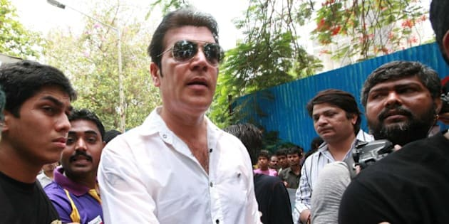MUMBAI, INDIA – JUNE 05: Aditya Pancholi at Jiah Khan's funeral, who committed suicide at her Mumbai residence. (Photo by Milind Shelte/India Today Group/Getty Images)