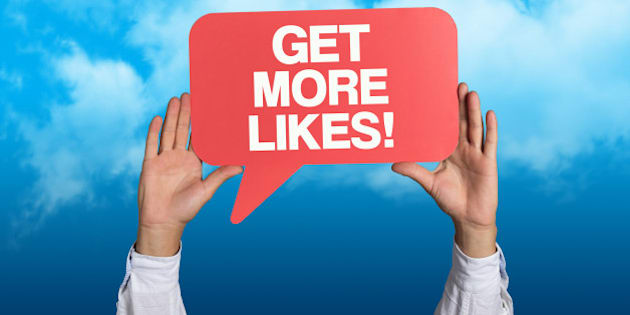 'Get More Likes' written in a Speech Bubble