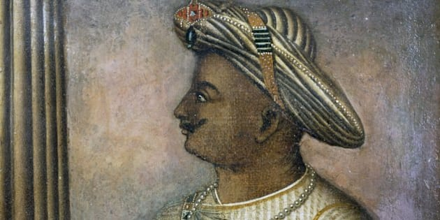 INDIA - CIRCA 2003: Tipu Sultan (1750-1799), also known as the Tiger of Mysore, Sultan of Mysore from 1782 to 1799, painting. India, 18th century. London, British Library, India Office Library And Records (Photo by DeAgostini/Getty Images)