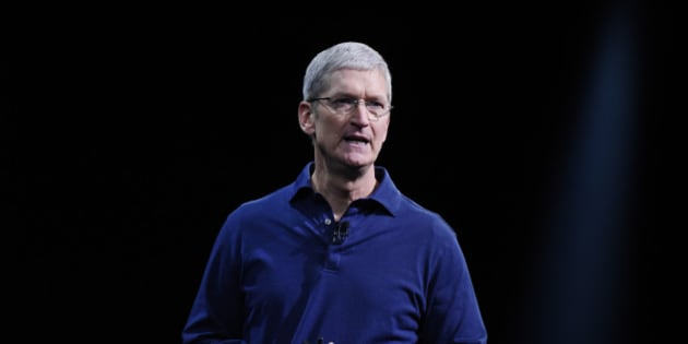 Tim Cook, chief executive officer of Apple Inc., speaks during the Apple World Wide Developers Conference (WWDC) in San Francisco, California, U.S., on Monday, June 8, 2015. Apple Inc., the maker of iPhones and iPads, will introduce software improvements for its computer and mobile devices as well as reveal new updates, including the introduction of a revamped streaming music service. Photographer: David Paul Morris/Bloomberg via Getty Images