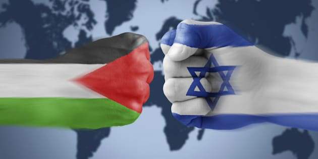 Israel x Palestine - boxing fists