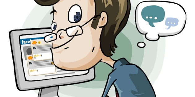 Wasting Time on Facebook and Chat. Cartoon Series