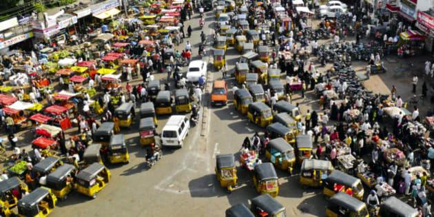 Traffic Jam at Hyderabad