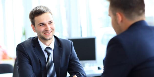 happy business people talking...