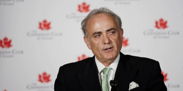 Calin Rovinescu, president and chief executive officer of Air Canada, speaks at the Canadian Club in Toronto, Ontario, Canada, on Tuesday, Feb. 4, 2014. Air Canada is counting on sales in the U.S., additional cost cuts and a hedging program to help make up for a drop in the value of the nation's currency, Rovinescu said. Photographer: Galit Rodan/Bloomberg via Getty Images. ***Local Caption*** Calin Rovinescu