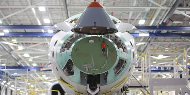 TORONTO, ON - NOVEMBER 3: 2015 Exterior pictures of Bombardier's  Global 7000 business jets at Bombardier's plant in Downsview.        (Vince Talotta/Toronto Star via Getty Images)