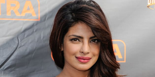 UNIVERSAL CITY, CA - SEPTEMBER 28:  Priyanka Chopra visits 'Extra' at Universal Studios Hollywood on September 28, 2015 in Universal City, California.  (Photo by Noel Vasquez/Getty Images)