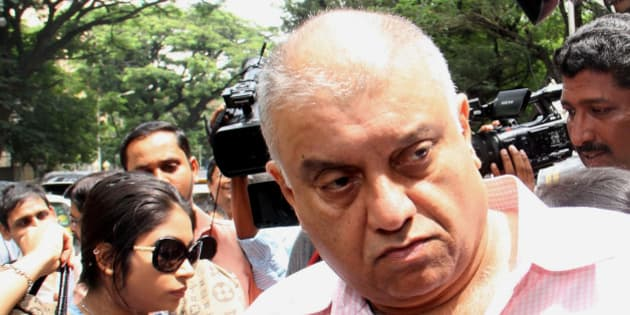 MUMBAI, INDIA - SEPTEMBER 4: Former CEO of Star India Peter Mukerjea arrives at Khar police station  in connection with Sheena Bora murder case on September 4, 2015 in Mumbai, India.  Indrani, her former husband Sanjeev Khanna and her former driver Shyamvar Rai have been arrested on the charge of murdering Sheena and disposing of the body in a Raigad forest in April 2012. (Photo by Pramod Thakur/Hindustan Times via Getty Images)