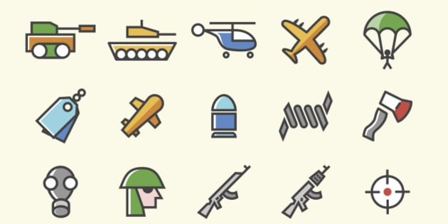 Isolated Vector Elements.