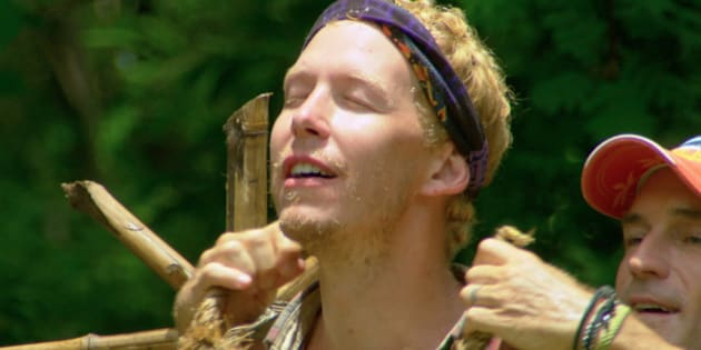 SAN JUAN DEL SUR - APRIL 14: 'Livin' on the Edge' -  Jeff Probst awards Tyler Fredrickson with the Immunity Necklace during the ninth episode of SURVIVOR on the 30th season, Wednesday, April 15 (8:00-9:00 PM, ET/PT) on the CBS Television Network. Image is a screen grab.  (Photo by CBS via Getty Images)