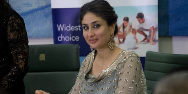 Indian actress Kareena Kapoor Khan smiles during a press conference at the launch of the Asian Sunday London edition, at Portcullis House in west London, Tuesday, Oct. 29, 2013. (Photo by Joel Ryan/Invision/AP)