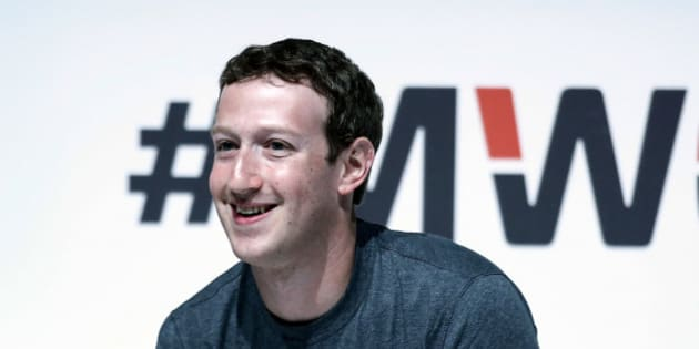 Mark Zuckerberg, co-founder and chief executive officer of Facebook Inc., pauses during a keynote session at the Mobile World Congress in Barcelona, Spain, on Monday, March 2, 2015. The event, which generates several hundred million euros in revenue for the city of Barcelona each year, also means the world for a week turns its attention back to Europe for the latest in technology, despite a lagging ecosystem. Photographer: Simon Dawson/Bloomberg via Getty Images