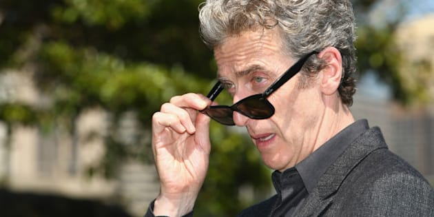 SYDNEY, AUSTRALIA - NOVEMBER 20:  Dr Who's Peter Capaldi poses durnig a media call at Mrs Macquarie's Chair on November 20, 2015 in Sydney, Australia.  (Photo by Mark Kolbe/Getty Images)