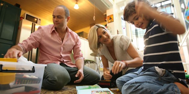(AUSTRALIA & NEW ZEALAND OUT) Kevin and Katherine Stevens with their autistic son Carlos at their Newtown home, Sydney, 10 October 2006. SHD Picture by ANTHONY JOHNSON (Photo by Fairfax Media via Getty Images)