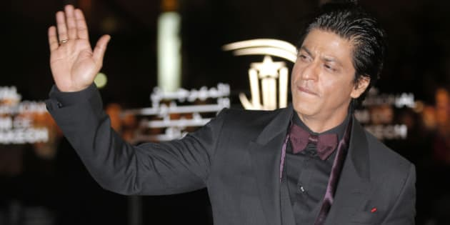 Indian film actor Shahrukh Khan arrives at the Marrakech International Film Festival in Marrakech, Morocco Saturday, Dec. 1, 2012 at the Marrakech Congress Palace. The Film Festival take place until Dec. 8. (AP Photo/Lionel Cironneau)