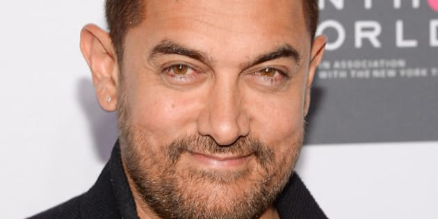 Indian actor Aamir Khan attends the Sixth Annual Women in the World Summit opening night at David H. Koch Theater, Lincoln Center on Wednesday, April 22, 2015, in New York. (Photo by Evan Agostini/Invision/AP)