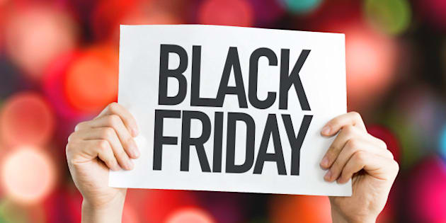 black friday placard with red...