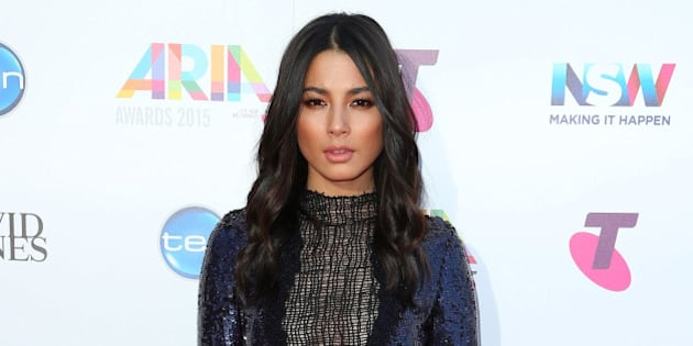 SYDNEY, AUSTRALIA - NOVEMBER 26:  Jessica Gomes arrives for the 29th Annual ARIA Awards 2015 at The Star on November 26, 2015 in Sydney, Australia.  (Photo by Graham Denholm/Getty Images)