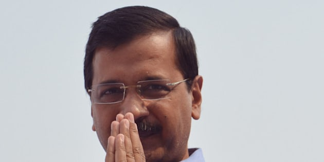NEW DELHI,INDIA  NOVEMBER 09: Chief Minister of Delhi Arvind Kejriwal Inaugurating Aam Aadmi Poly Clinic in New Delhi.(Photo by Qamar Sibtain/India Today Group/Getty Images)