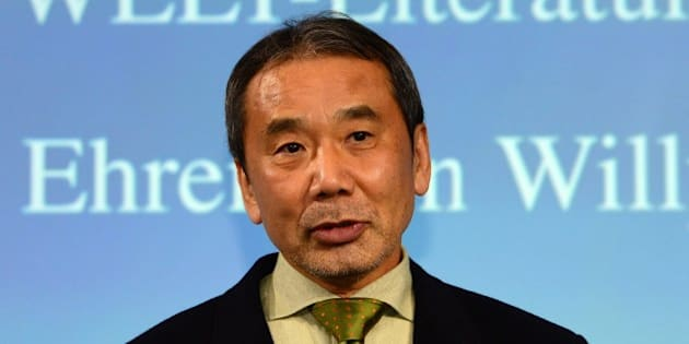Japanese writer Haruki Murakami poses for photographers prior to an award ceremony for the Germany's Welt Literature Prize bestowed by the German daily Die Welt, in Berlin on November 7, 2014.  AFP PHOTO / JOHN MACDOUGALL        (Photo credit should read JOHN MACDOUGALL/AFP/Getty Images)