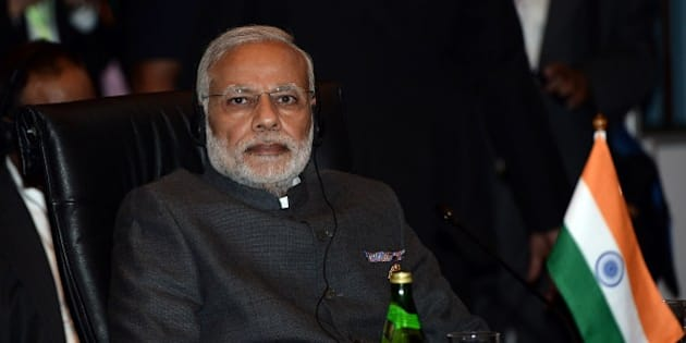 India's Prime Minister Narendra Modi takes part in the ASEAN plus India meeting, part of the 27th Association of Southeast Asian Nations (ASEAN) Summit in Kuala Lumpur on November 21, 2015. Asia-Pacific leaders meeting in Malaysia on November 21 condemned the string of Islamic extremist attacks from Paris to Mali, urging an international effort to fight the scourge.   AFP PHOTO / MANAN VATSYAYANA        (Photo credit should read MANAN VATSYAYANA/AFP/Getty Images)