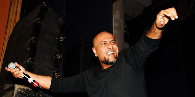 Indian Bollywood music director and playback Vishal Dadlani performs during the Cancer Patient Aid Association (CPAA) musical evening on World No Tobacco Day in Mumbai on May 26, 2013.  AFP PHOTO        (Photo credit should read STR/AFP/Getty Images)