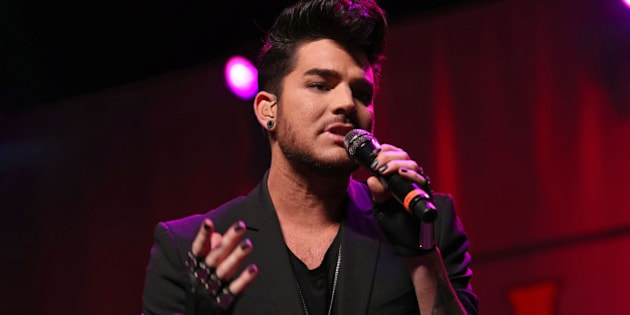 Adam Lambert performs at the Fresh 102.7 Fall Fest at the Theater at Madison Square Garden on Thursday, Oct. 8, 2015, in New York. (Photo by Greg Allen/ Invision/AP)