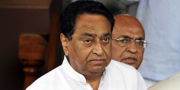 NEW DELHI, INDIA - JULY 22: Member of Parliament Kamal Nath after attending the monsoon session at Parliament House, on July 22, 2015 in New Delhi, India. Both Houses of Parliament were adjourned for the day on Wednesday as the opposition kept up with its protest over the controversies involving senior Bharatiya Janata Party (BJP) leaders and rejected the government's demand for a discussion on the issues. In Rajya Sabha, finance minister defended External Affairs Minister Sushma Swaraj, who is facing opposition heat for allegedly supporting tainted former IPL Chief Lalit Modi's bid for British travel papers. (Photo by Sonu Mehta/Hindustan Times via Getty Images)