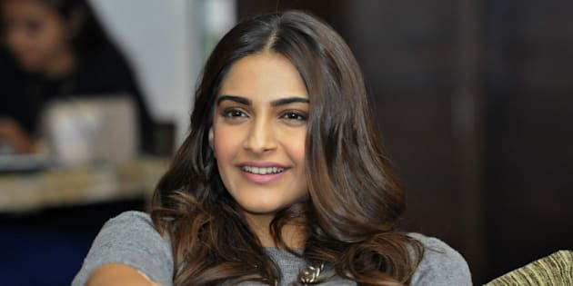CHANDIGARH, INDIA - NOVEMBER 23: Bollywood actress Sonam Kapoor, during the function HT Youth Forum 30 Under 30 on November 23, 2015 in Chandigarh, India. (Photo by Gurpreet Singh/Hindustan Times via Getty Images)