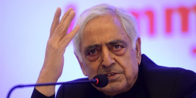 NEW DELHI,INDIA MAY 3: J&K CM Mufti Mohammad Sayeed addressing at the Jammu and Kashmir tourism Press conference in New Delhi.(Photo by Shekhar Yadav/India Today Group/Getty Images)