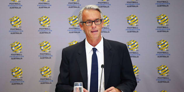 SYDNEY, AUSTRALIA - DECEMBER 01:  FFA CEO David Gallop speaks to the media during a press conference at the FFA Offices on December 1, 2015 in Sydney, Australia.  (Photo by Matt King/Getty Images)