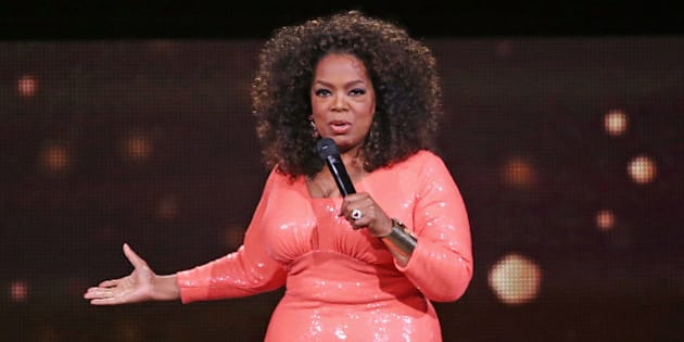 MELBOURNE, AUSTRALIA - DECEMBER 02:  Oprah Winfrey on stage during her An Evening With Oprah tour on December 2, 2015 in Melbourne, Australia.  (Photo by Scott Barbour/Getty Images)