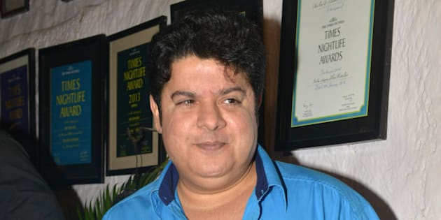 MUMBAI,INDIA  NOVEMBER 30: Sajid Khan at the success party of the movie 'Tamasha' in Mumbai.(Photo by Milind Shelte/India Today Group/Getty Images)